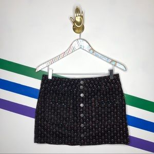 NEW we the free corduroy button front skirt